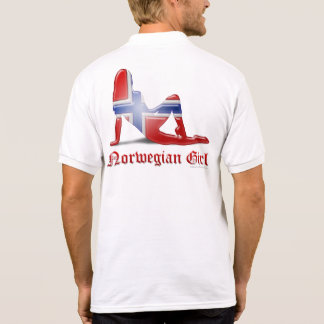 Norwegian Girl Silhouette Flag T-shirts