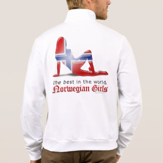 Norwegian Girl Silhouette Flag Shirts