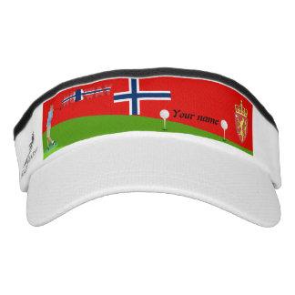 Norwegian golfer visor