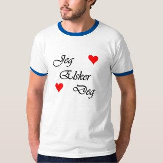 """Norwegian """"I Love You"""" Norsk """"Jeg Elsker Deg"""" T-Shirt"""