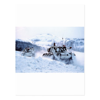 Norwegian Leopard Tanks Winter Snow Destiny Postcard