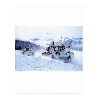 Norwegian Leopard Tanks Winter Snow Destiny Post Card