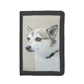 Norwegian Lundehund Painting - Original Dog Art Trifold Wallets