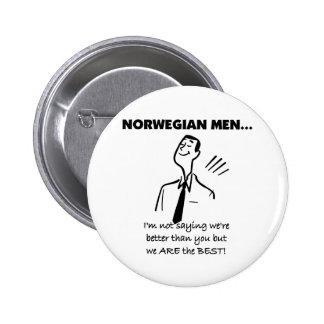 Norwegian Men Are The Best 6 Cm Round Badge