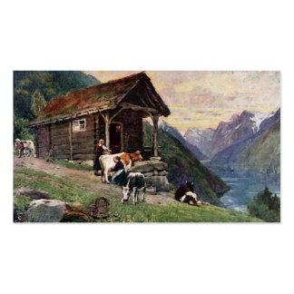 Norwegian milk maids' cabin pack of standard business cards