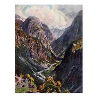 Norwegian mountain pass postcard