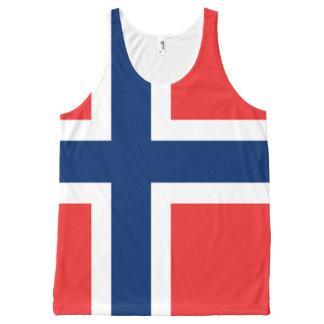 Norwegian National flag Shirt All-Over Print Tank Top