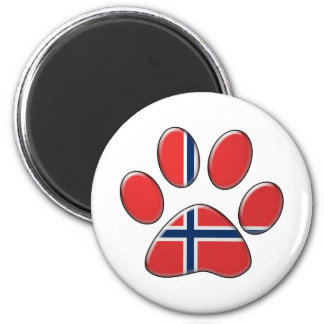 Norwegian patriotic cat magnet