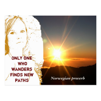 Norwegian proverb -postcard postcard