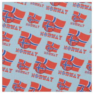 Norwegian Soccer Ball and Flag Fabric