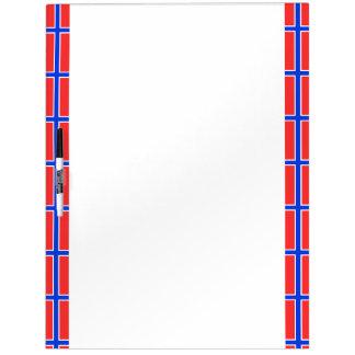 Norwegian stripes flag dry erase board