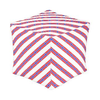 Norwegian stripes flag pouf