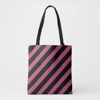 Norwegian stripes flag tote bag