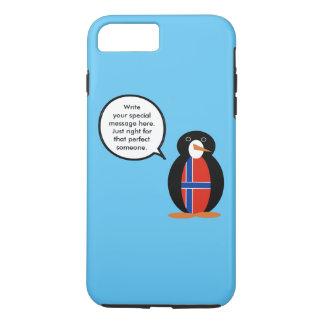 Norwegian Talking Penguin Flag - Norsk Penguin iPhone 7 Plus Case