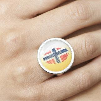 Norwegian touch fingerprint flag