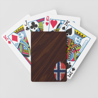 Norwegian touch fingerprint flag bicycle playing cards