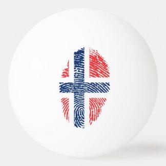 Norwegian touch fingerprint flag ping pong ball