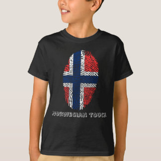 Norwegian touch fingerprint flag T-Shirt