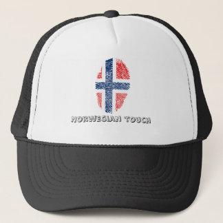 Norwegian touch fingerprint flag trucker hat