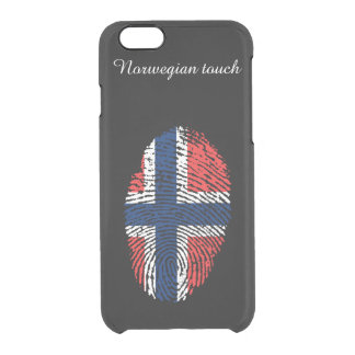 Norwegian touch fingerprint pattern clear iPhone 6/6S case