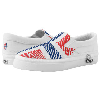 Norwegian touch fingerprint pattern slip on shoes