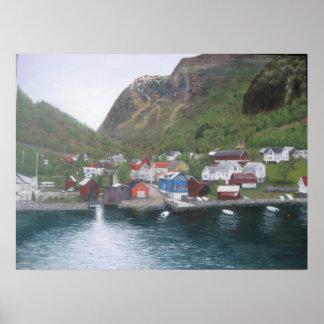 Norwegian Village Poster