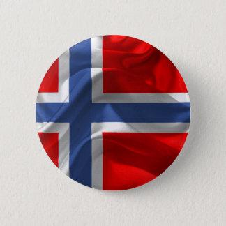Norwegian waving flag 6 cm round badge