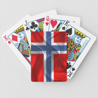 Norwegian waving flag bicycle playing cards