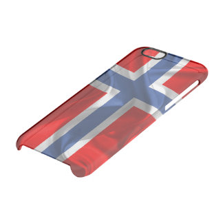 Norwegian waving flag clear iPhone 6/6S case