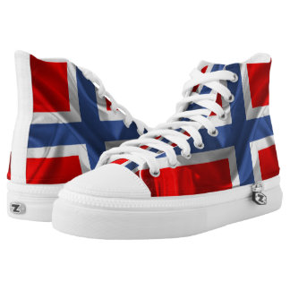Norwegian waving flag high tops