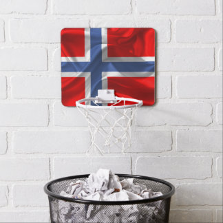 Norwegian waving flag mini basketball hoop