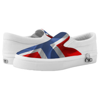 Norwegian waving flag slip on shoes