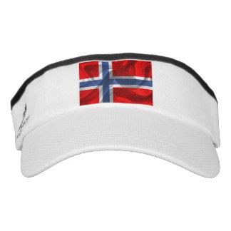 Norwegian wavy flag visor