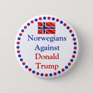 Norwegians Against Donald Trump Button