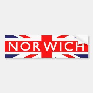 Norwich : British Flag Bumper Sticker