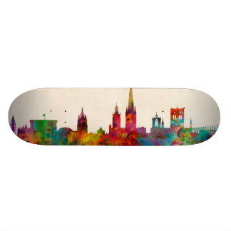 Norwich England Skyline 21.3 Cm Mini Skateboard Deck