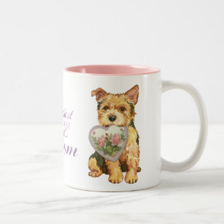 Norwich Heart Mom Two-Tone Coffee Mug