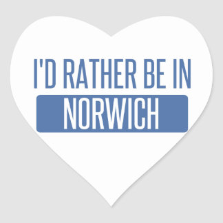 Norwich Heart Sticker