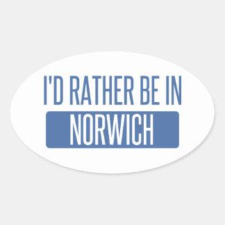 Norwich Oval Sticker