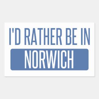 Norwich Rectangular Sticker