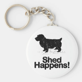 Norwich Terrier Basic Round Button Key Ring
