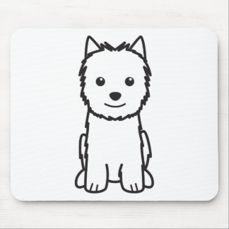 Norwich Terrier Dog Cartoon Mouse Pad