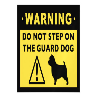 Norwich Terrier Funny Guard Dog Warning Magnetic Invitations