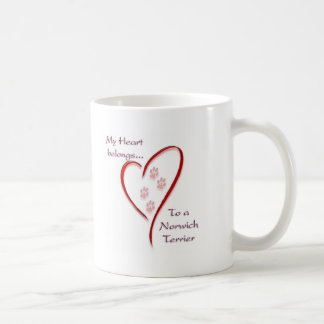 Norwich Terrier Heart Belongs Coffee Mug