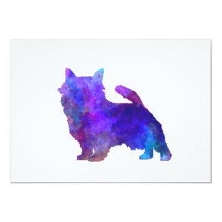 Norwich Terrier in watercolor Card