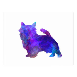 Norwich Terrier in watercolor Postcard