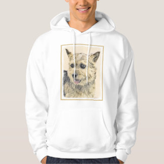 Norwich Terrier Painting - Cute Original Dog Art Hoodie
