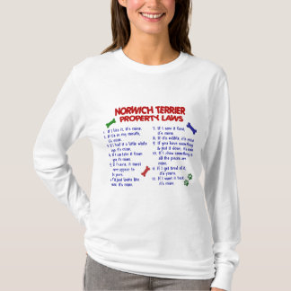 NORWICH TERRIER Property Laws 2 T-Shirt