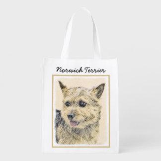 Norwich Terrier Reusable Grocery Bag