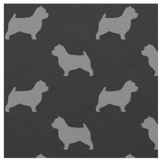 Norwich Terrier Silhouette Fabric